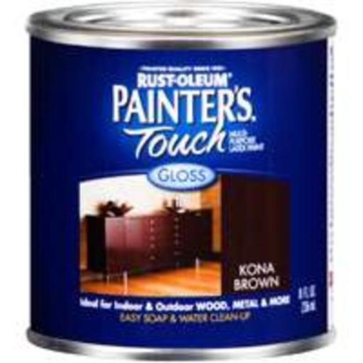 Painter's Touch 1977730 Acrylic Latex Paint, 1/2 Pint, Kona Brown