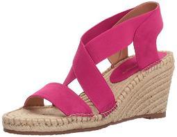 ADRIENNE VITTADINI Footwear Women's Charlene Espadrille Wedge Sandal, hotpink, 10 M US