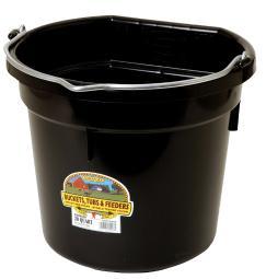 Little Giant Flat Back 20 qt. Bucket Black - Case Of: 1;