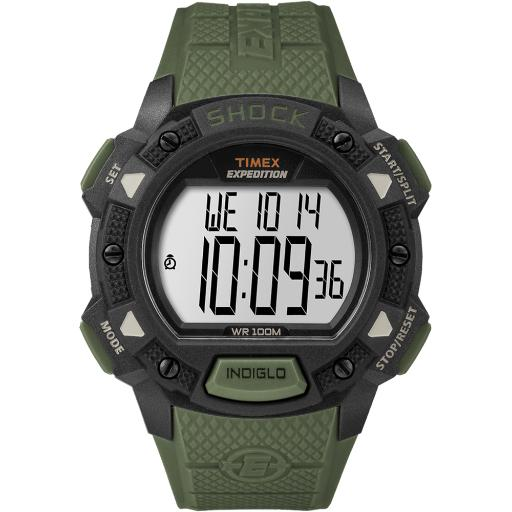 Timex corporation timex expedition base shock resin watch - green tw4b09300jv