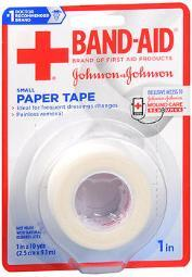 """Band-aid Paper Tape Small 1""""x10yd - 1 Roll"""