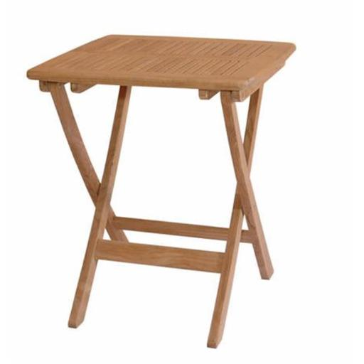 Anderson Teak TBF-024S Windsor 24 Inch Square Picnic Folding Table
