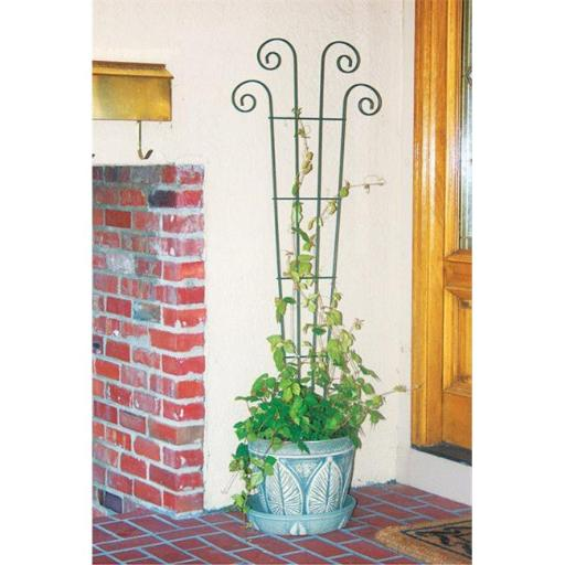 Products 89631 Waved Scroll Trellis Black - 4 ft.