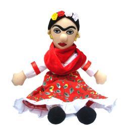 Frida Kahlo Little Thinker Plush Doll Mexican Artist Novelty Funny Gift Art