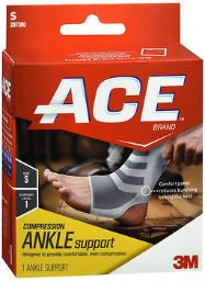 Ace Knitted Ankle Support Small, Mild Support, Pack Of 3
