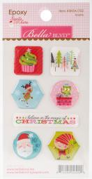 Santa Stops Here Epoxy Stickers-Icons