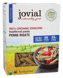 Jovial Foods - 100% Organic Einkorn Traditional Penne Rigate Pasta - 12 oz.