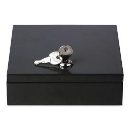 "Space-Saving Steel Security Box 6 3/4"" X 6 7/8"" X 2"" Black   Total Quantity: 1"