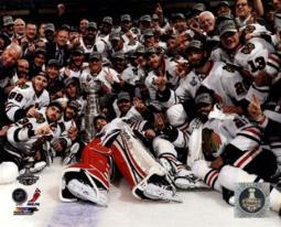 The Chicago Blackhawks celebrate winning Game 6 of the 2013 Stanley Cup Finals Sports Photo PFSAAQA03501