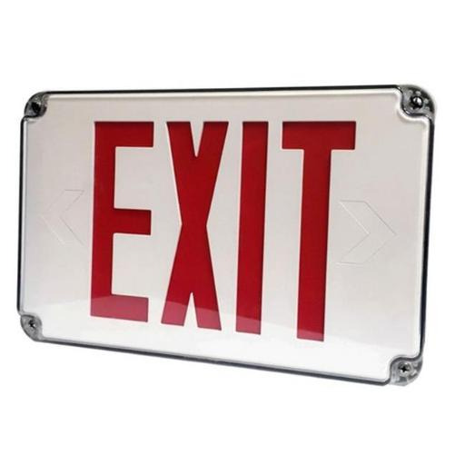 Morris 73455 LED Wet Location Exit Signs Legend Remote Capable, Green CE1239FB265F82D5