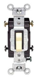 Leviton S01-cs415-2is Commercial Grade Toggle Switch, 15 Amp, Ivory