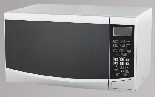 0.9 CF Touch Microwave - White 0.9 CF Capacity 900 Watts of Cooking Power Electronic Control Panel Digital Touchpad Controls Express Cook Time and Weight Defrost 100 Minute Cooking Timer 10 Microwave Power Levels Cooking End Signal Child Safety Lock Push Button Door Opener