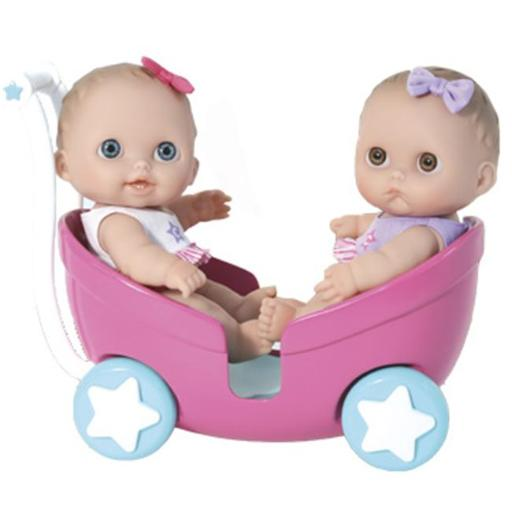 JC TOYS 16982 8.5 in. Lil Cutesies Twins Doll in Stroller E8087B1421C53FA6