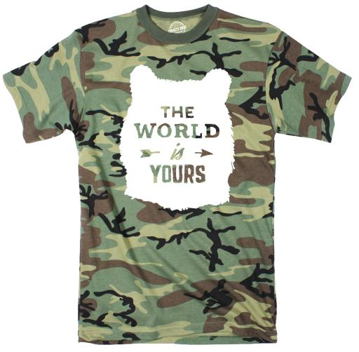 The World Is Yours Youth Camo Tshirt Outdoor Explore Tee