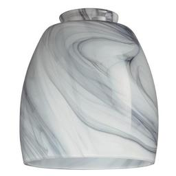 Westinghouse 8140900 2.25 in. Handblown Charcoal Swirl Glass Shade