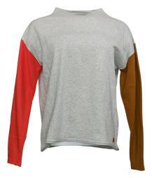 Peace Love World Women's Sweatshirt Sz XXS Color Block French Terry Gray A351885