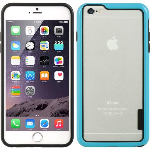 NEW BLUE HARD/SOFT TPU BUMPER SKIN CASE FRAME COVER FOR iPHONE 6 PLUS 5.5