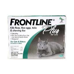 Frontline Cat-3Pk-Ps Frontline Flea Control Plus For All Cats And Kittens 3 Month Supply