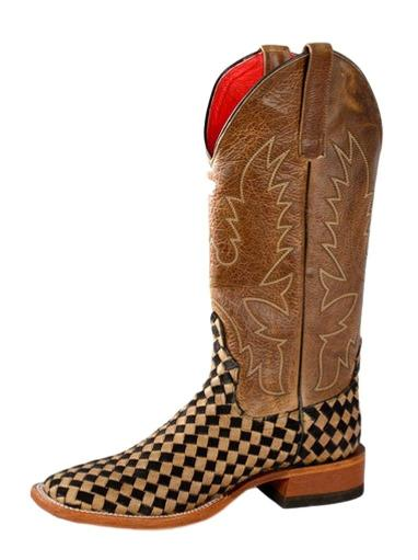 99b0686af5231 Macie Bean Western Boots Womens Courtly Check Weave Tan Black M9072