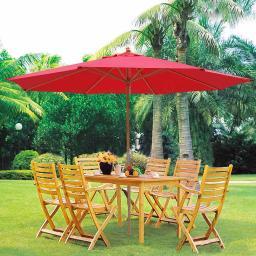 Yescom Yescom 13ft Xl Outdoor Patio Umbrella W German Beech Wood Pole Beach Yard Garden Wedding Cafe Garden Red Massgenie Com