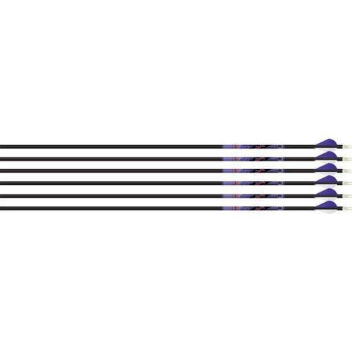 BEMAN 926326 BEMAN ARROW ICS INDIGO 500 W/ XPV VANES 6-PACK WHITE/PURPLE