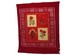 """Floral Embossed Winter Decorative Soft Thick Warm Bed Blanket Throw ORANGE (76.5""""-91"""")"""