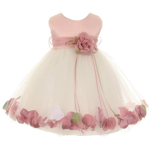 72ba76a02f7 Kids Dream Baby Girl Ivory Rose Top Satin Petal Floating Sash Flower Girl  Dress 6-24M. by Kids Dream Sold by Sophias Style Boutique