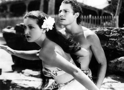 The Hurricane Dorothy Lamour Jon Hall 1937 Photo Print CDEJQL4NUPB2CHGK