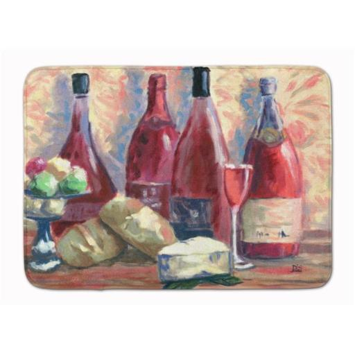 Carolines Treasures SDSM0127RUG Wine & Cheese by David Smith Machine Washable Memory Foam Mat