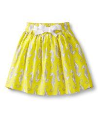 Carter's Little Girls' Yellow Seahorse Skirt, 4T