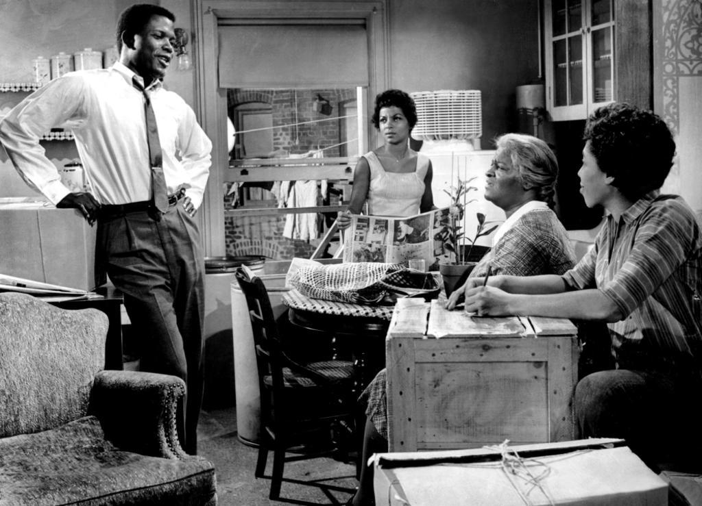 A Raisin In The Sun Sidney Poitier Ruby Dee Claudia Mcneil Diana Sands 1961 Photo Print