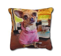 Robert McClintock Chihuahua Bella Decorative Throw Pillow 18in.