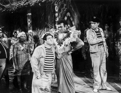 Abbott & Costello Talking to Village Chief Photo Print