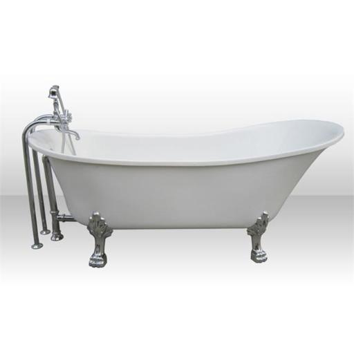 Pure Acrylic 69 In. All-in-One Clawfoot Tub Kit
