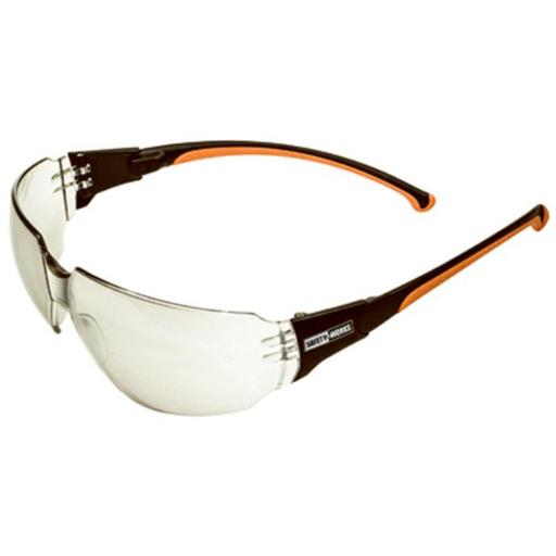 SWX00272 Spinner Temple Indoor & Outdoor Lens Safety Glasses, Black