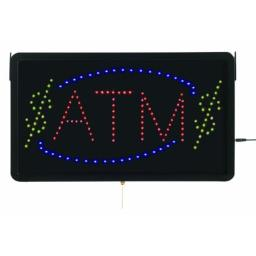 Aarco Products  Inc. ATM10L High Visibility LED ATM Sign 13 in.Hx22 in.W
