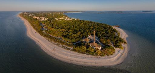 Aerial view of Sanibel Island Lighthouse, Sanibel Island, Lee County, Florida, USA Poster Print by Panoramic Images (24 x 12)