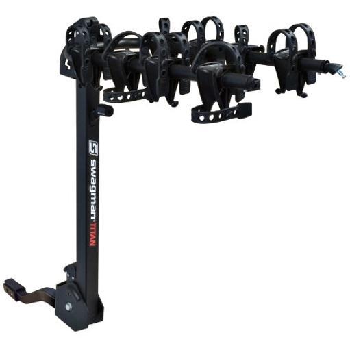 Bike Rack Hitch-Mount 1-1/4In 2In - Titan Four 4 Bike Folding