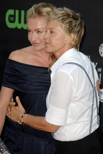 Portia De Rossi, Ellen Degeneres At Arrivals For The 36Th Annual Daytime Emmy Awards - Arrivals, Orpheum Theatre, Los Angeles, Ca August 30, 2009.