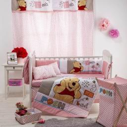 [Disney Pooh Sleep Time] 4 Pc Crib Bedding Set (Bumper)