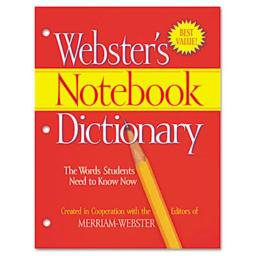 Merriam Webster FSP0566 Notebook Dictionary- Three Hole Punched- Paperback- 80 Pages