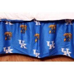 College Covers KENDRQU Kentucky Printed Dust Ruffle Queen