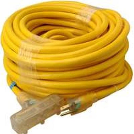 Coleman Cable 0918805 Heavy Duty Extension Cord, 10 AWG, 100 ft