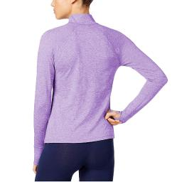 Ideology Women's Essential Fitness Running 1/4 Zip Pullover Blazing Purple Size 2 Extra Large