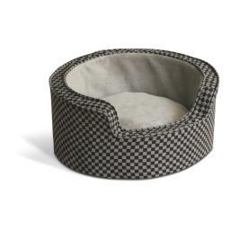K&H Pet Products 4305 Gray / Black K&H Pet Products Round Comfy Sleeper Self-Warming Pet Bed Small Gray / Black 18 X
