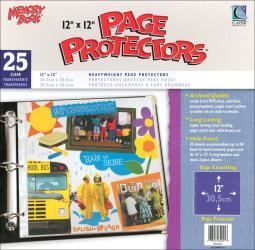 """Memory Book Top-Loading Page Protectors 12""""X12"""" 25/Pkg"""
