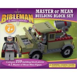 B & H Publishing Group 71666 Bibleman Master of Mean Building Block Toy Play Set