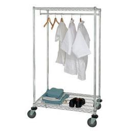 Quantum Storage WRCGR-63-2436 Wire Garment Rack, Mobile 24 x 36 x 69 in.