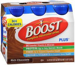 Boost Plus Complete Nutritional Drinks Rich Chocolate, 6 - 8 Oz