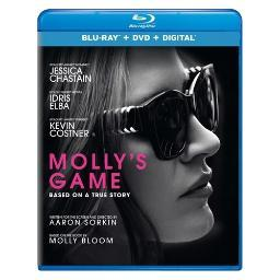 Mollys game (blu ray/dvd w/digital) BR64186845